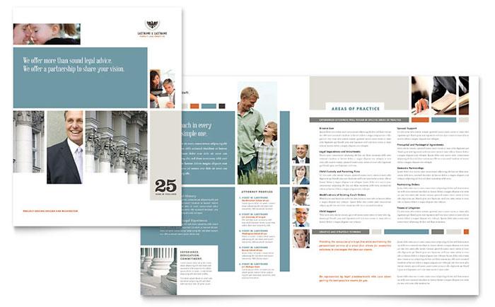 family law attorneys brochure template design. Black Bedroom Furniture Sets. Home Design Ideas