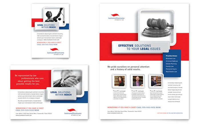 Advertisements & Flyer Sample - Justice Legal Services