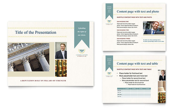 law firm powerpoint presentation template design