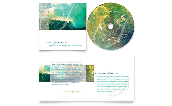 Symphony Orchestra Concert Event CD Booklet Template Design - Cd booklet template