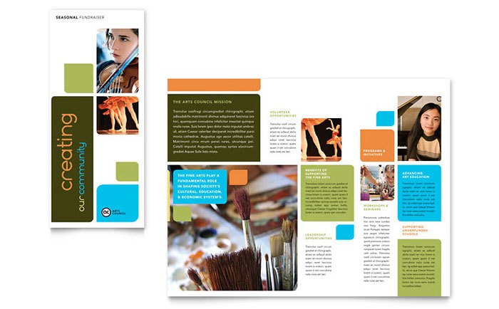 school brochure template - arts council education brochure template design