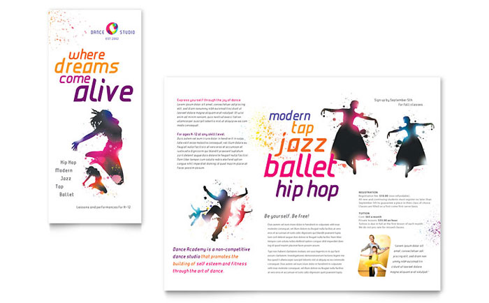Dance Studio Brochure Template Design