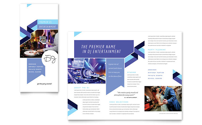 DJ Brochure Template Design - Event brochure template