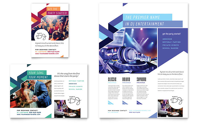 DJ - Flyer & Ad Design Example