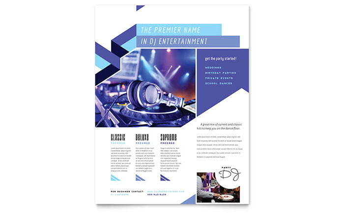 DJ Flyer Template Design Download - InDesign, Illustrator, Word, Publisher, Pages