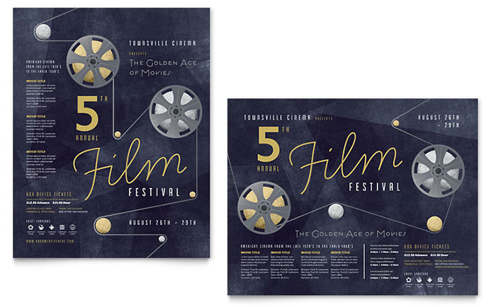 film festival poster template design