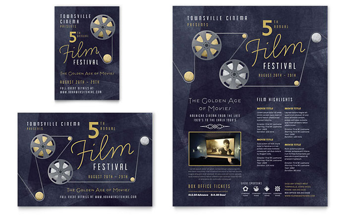 film festival flyer  u0026 ad template design