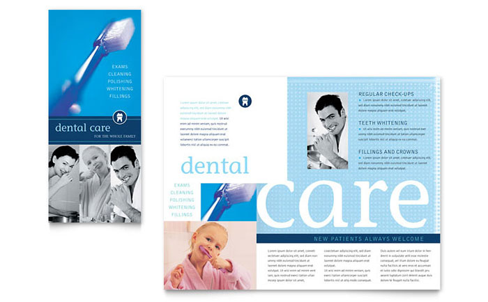 Dentist Office Brochure Template Design