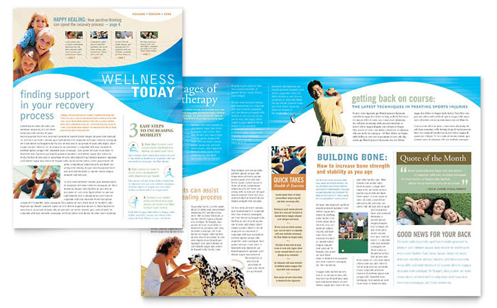 sports fitness newsletters templates design examples