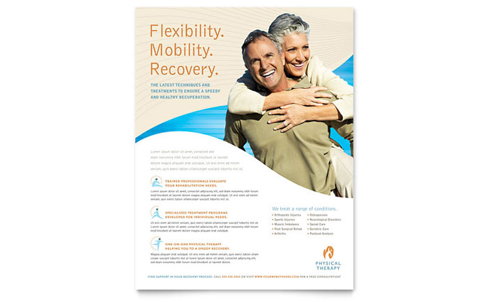 Physical Therapist Flyers Templates Graphic Designs