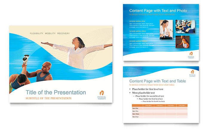 physical therapist powerpoint presentation template design, Presentation templates