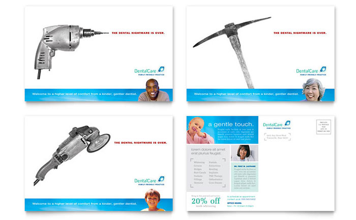 Dental Care Postcard Template Design Download - InDesign, Illustrator, Word, Publisher, Pages