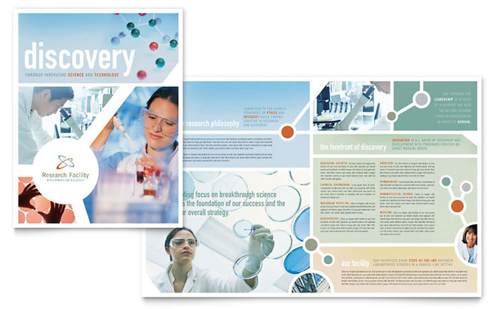 Medical research brochure template design for Medical office brochure templates