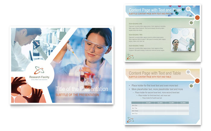 medical research powerpoint presentation template design