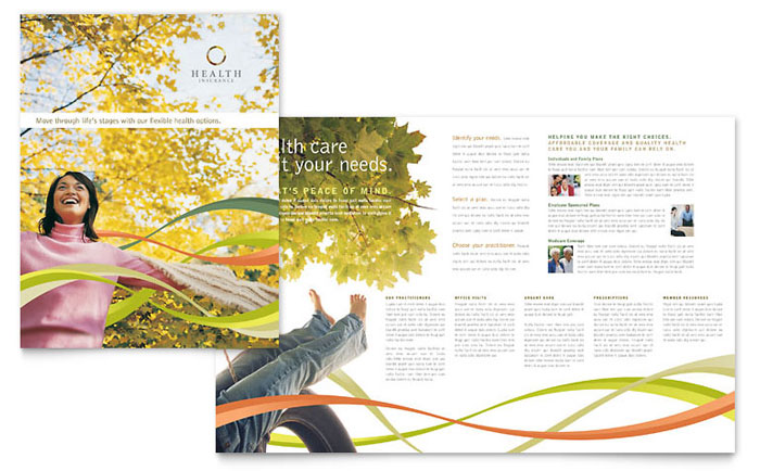 Health Insurance Company Brochure Template Design Download - InDesign, Illustrator, Word, Publisher, Pages
