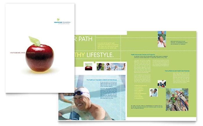 Healthcare Management Brochure Template Design