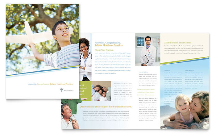 health pamphlet template - family physician brochure template design