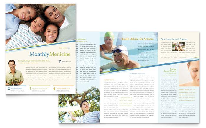 family physician newsletter template design