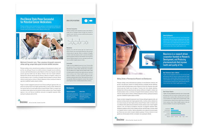 Science U0026 Chemistry Datasheet Template