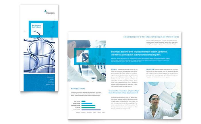 Science chemistry tri fold brochure template design for Science brochure templates
