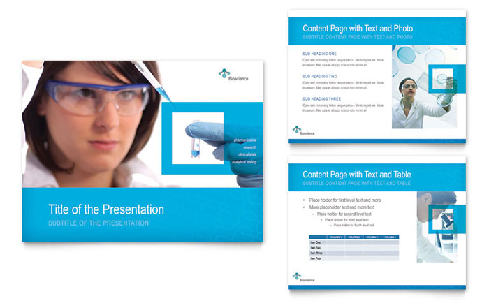 science & chemistry powerpoint presentation template design, Presentation templates