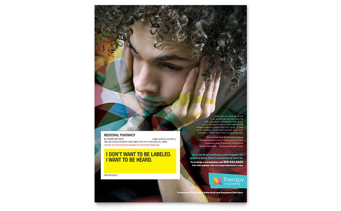Adolescent Counseling Flyer Template Design