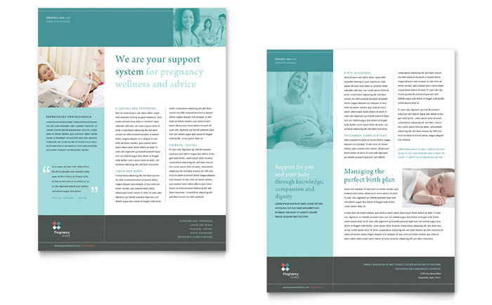 Medical  Health Care Sales Sheets  Templates  Design Examples