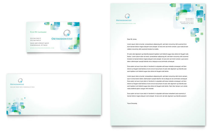 Orthodontist business card letterhead template design toneelgroepblik Gallery