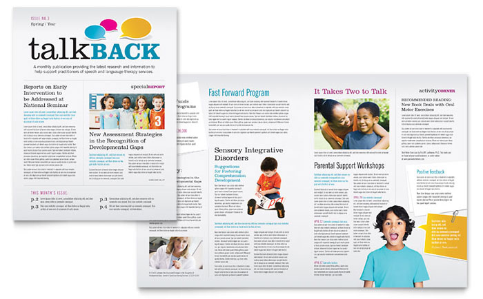 Newsletter Example - Speech Therapy Education