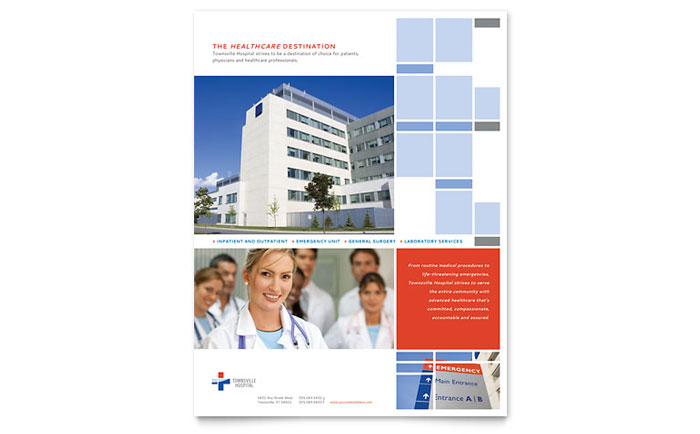 Hospital Flyer Template Design - InDesign, Illustrator, Word, Publisher, Pages