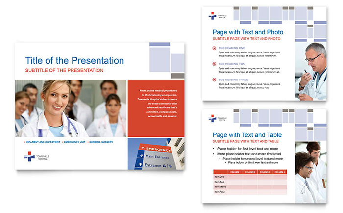 hospital powerpoint presentation template design, Presentation templates