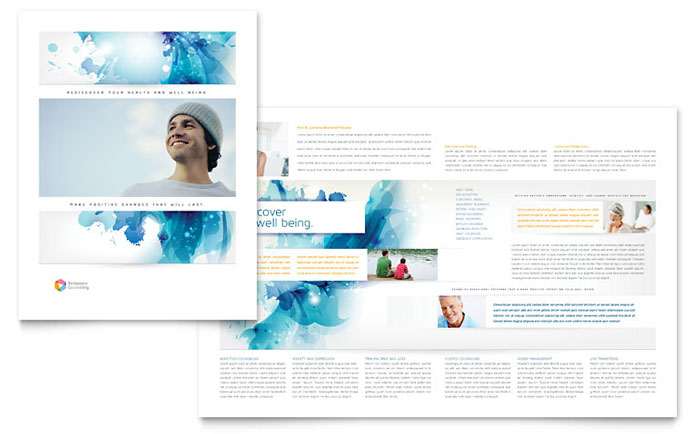Behavioral counseling brochure template design for Counseling brochure templates free