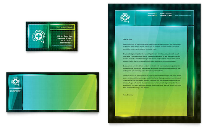 medical conference business card  u0026 letterhead template design