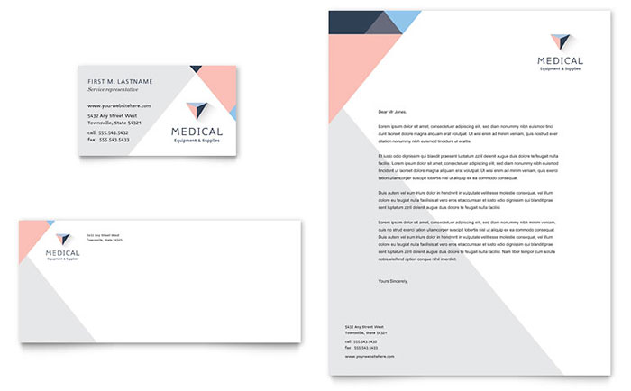 Disability Medical Equipment Business Card Letterhead Template - Microsoft office templates business cards
