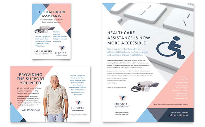 Disability Medical Equipment Flyer & Ad Template Design Download - InDesign, Illustrator, Word, Publisher, Pages