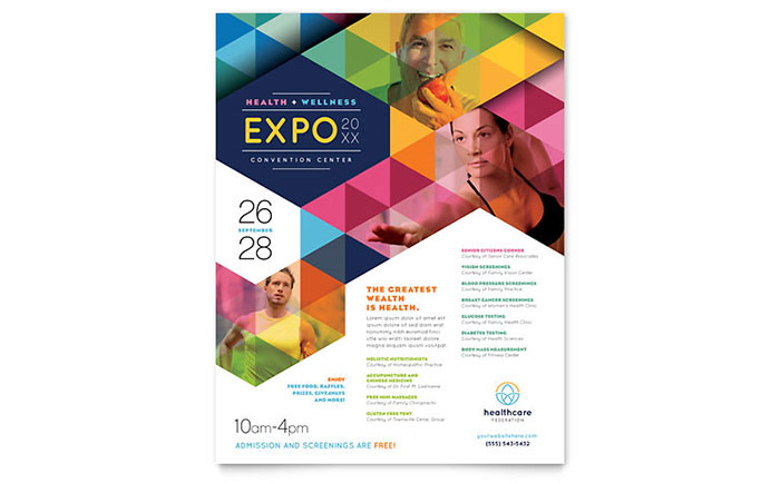health fair flyer template design