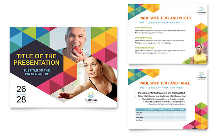 health fair powerpoint presentation template design, Presentation templates