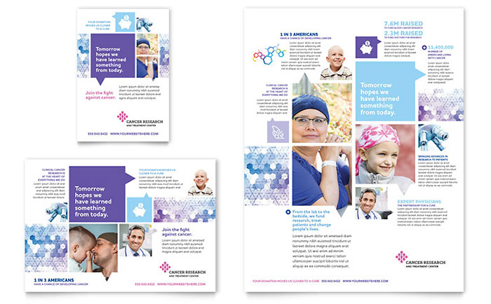 cancer treatment flyer ad template design