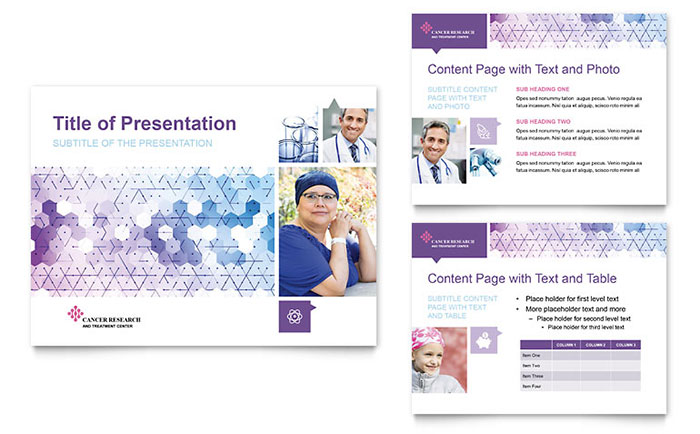 Cancer treatment powerpoint presentation template design toneelgroepblik Choice Image