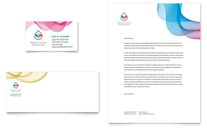 Insurance consulting business card letterhead template design friedricerecipe Gallery