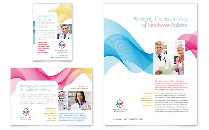 Insurance consulting flyer ad template design for Ad designs