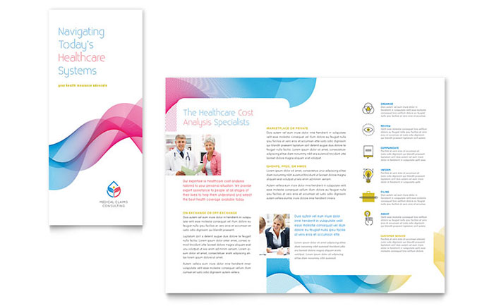 insurance consulting tri fold brochure template design