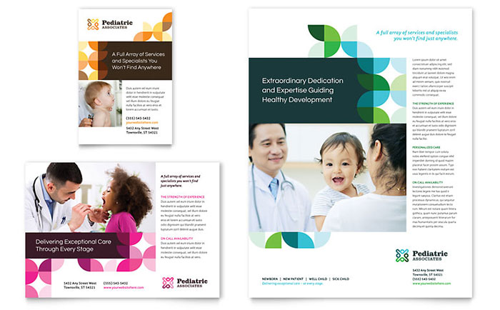 Pediatric Doctor Flyer & Ad Template Design Download - InDesign, Illustrator, Word, Publisher, Pages