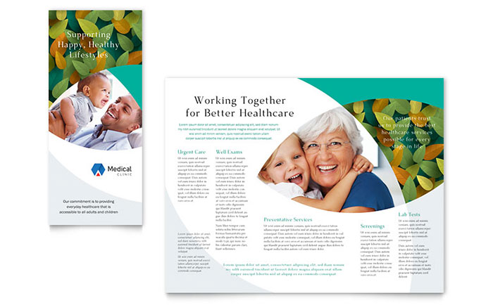 Doctors Office Brochure Template Design - Medical office brochure templates