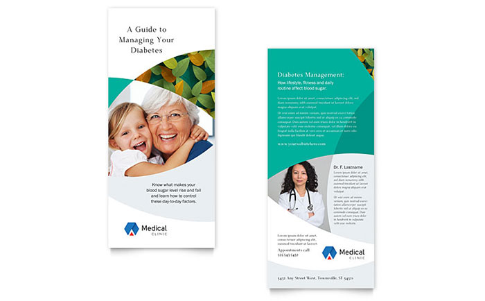 DoctorS Office Rack Card Template Design