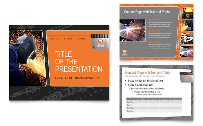 manufacturing engineering powerpoint presentation template