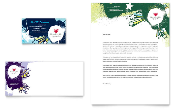 Child Advocates Business Card & Letterhead Template Design Download - InDesign, Illustrator, Word, Publisher, Pages