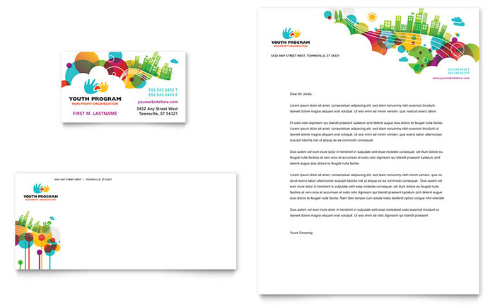 Religious organizations letterheads templates design examples youth program business card letterhead spiritdancerdesigns Choice Image