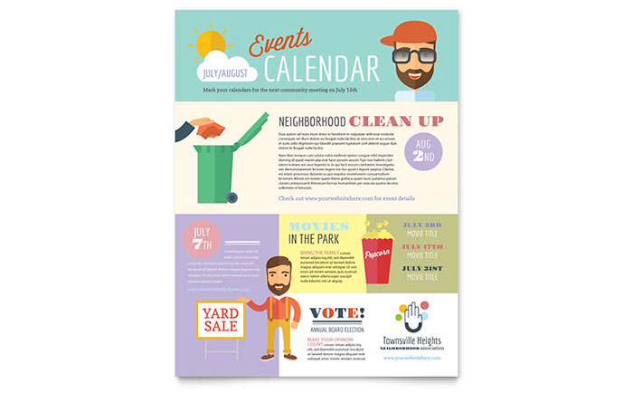 Homeowners Association Flyer Template Design
