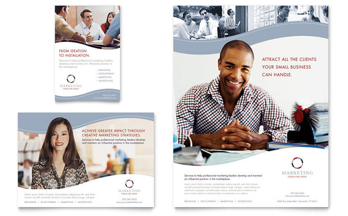 Marketing Consulting Group Flyer & Ad Template Design